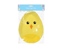 Easter Character Egg Shaped Paper Plates (6)